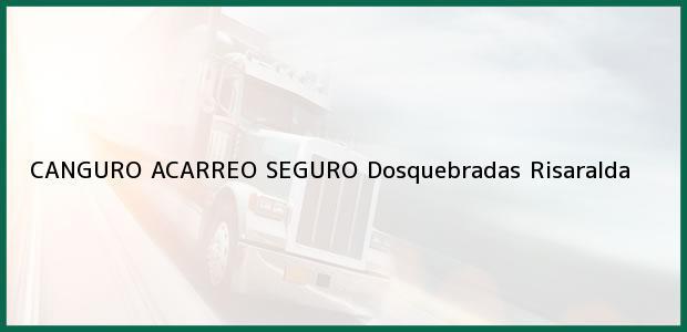 Teléfono, Dirección y otros datos de contacto para CANGURO ACARREO SEGURO, Dosquebradas, Risaralda, Colombia