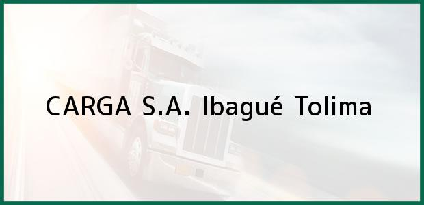 Teléfono, Dirección y otros datos de contacto para CARGA S.A., Ibagué, Tolima, Colombia