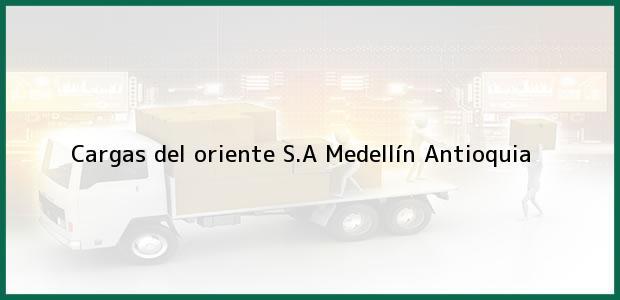 Teléfono, Dirección y otros datos de contacto para cargas del oriente S.A, Medellín, Antioquia, Colombia