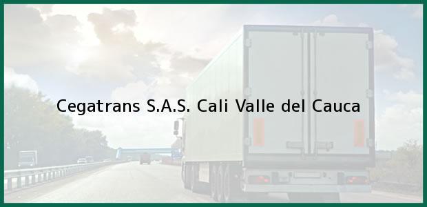 Teléfono, Dirección y otros datos de contacto para Cegatrans S.A.S., Cali, Valle del Cauca, Colombia