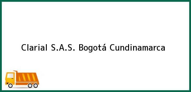 Teléfono, Dirección y otros datos de contacto para Clarial S.A.S., Bogotá, Cundinamarca, Colombia