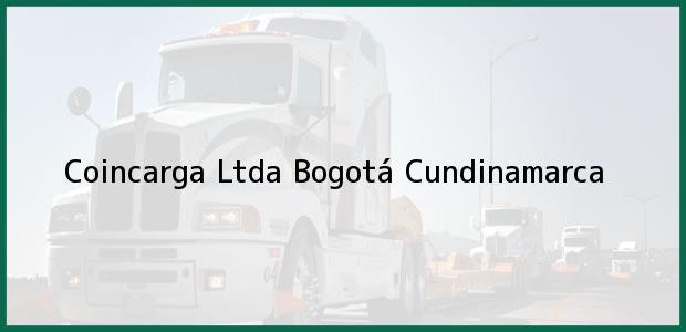 Teléfono, Dirección y otros datos de contacto para Coincarga Ltda, Bogotá, Cundinamarca, Colombia