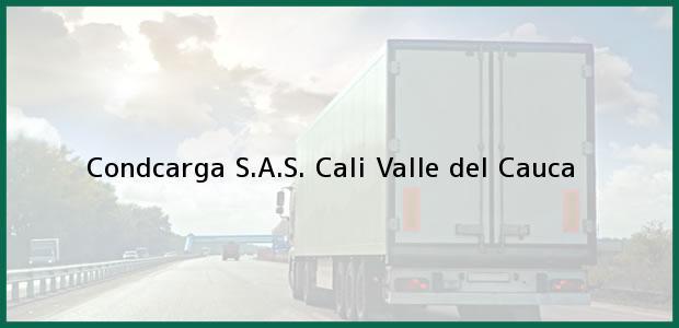 Teléfono, Dirección y otros datos de contacto para Condcarga S.A.S., Cali, Valle del Cauca, Colombia