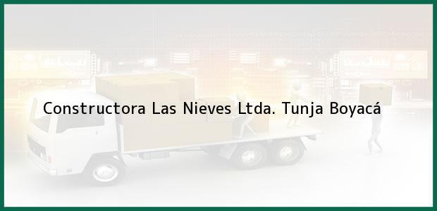 Teléfono, Dirección y otros datos de contacto para Constructora Las Nieves Ltda., Tunja, Boyacá, Colombia