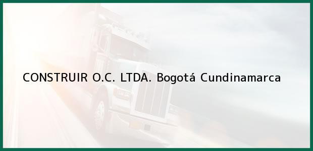 Teléfono, Dirección y otros datos de contacto para CONSTRUIR O.C. LTDA., Bogotá, Cundinamarca, Colombia