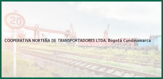 Teléfono, Dirección y otros datos de contacto para COOPERATIVA NORTEÑA DE TRANSPORTADORES LTDA., Bogotá, Cundinamarca, Colombia