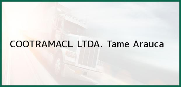 Teléfono, Dirección y otros datos de contacto para COOTRAMACL LTDA., Tame, Arauca, Colombia