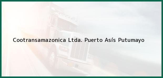 Teléfono, Dirección y otros datos de contacto para Cootransamazonica Ltda., Puerto Asís, Putumayo, Colombia