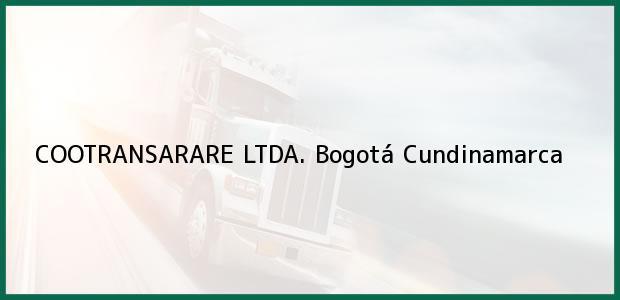Teléfono, Dirección y otros datos de contacto para COOTRANSARARE LTDA., Bogotá, Cundinamarca, Colombia