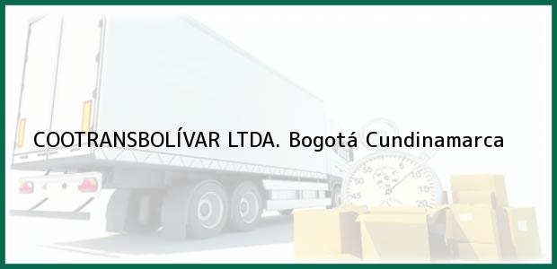 Teléfono, Dirección y otros datos de contacto para COOTRANSBOLÍVAR LTDA., Bogotá, Cundinamarca, Colombia