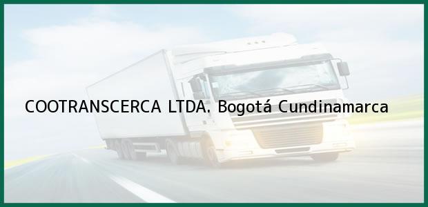 Teléfono, Dirección y otros datos de contacto para COOTRANSCERCA LTDA., Bogotá, Cundinamarca, Colombia