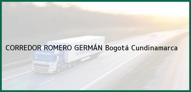 Teléfono, Dirección y otros datos de contacto para CORREDOR ROMERO GERMÁN, Bogotá, Cundinamarca, Colombia