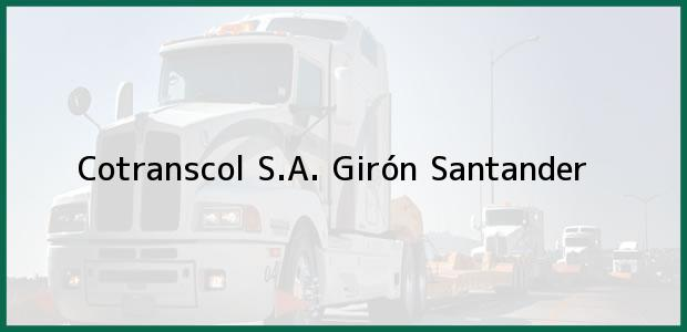 Teléfono, Dirección y otros datos de contacto para Cotranscol S.A., Girón, Santander, Colombia