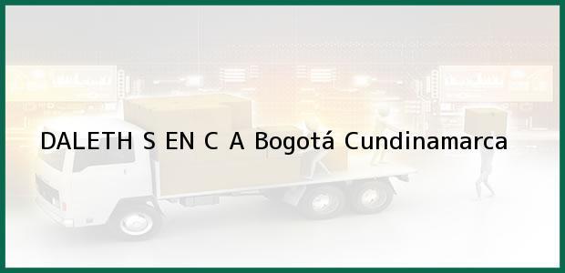 Teléfono, Dirección y otros datos de contacto para DALETH S EN C A, Bogotá, Cundinamarca, Colombia