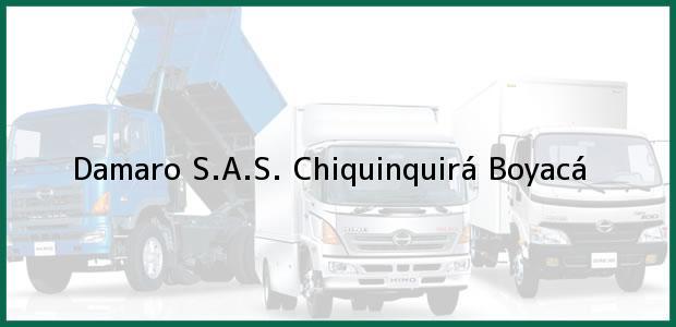 Teléfono, Dirección y otros datos de contacto para Damaro S.A.S., Chiquinquirá, Boyacá, Colombia