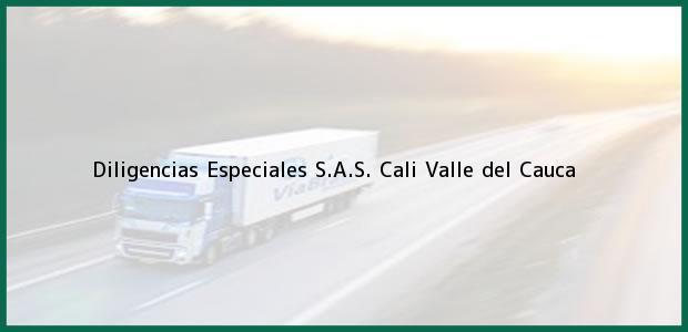 Teléfono, Dirección y otros datos de contacto para Diligencias Especiales S.A.S., Cali, Valle del Cauca, Colombia