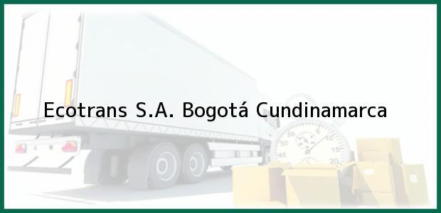 Teléfono, Dirección y otros datos de contacto para Ecotrans S.A., Bogotá, Cundinamarca, Colombia