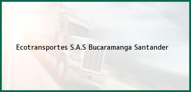 Teléfono, Dirección y otros datos de contacto para Ecotransportes S.A.S, Bucaramanga, Santander, Colombia