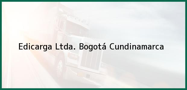 Teléfono, Dirección y otros datos de contacto para Edicarga Ltda., Bogotá, Cundinamarca, Colombia