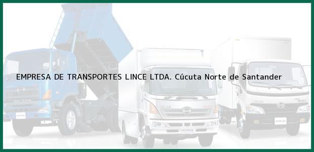 Teléfono, Dirección y otros datos de contacto para EMPRESA DE TRANSPORTES LINCE LTDA., Cúcuta, Norte de Santander, Colombia