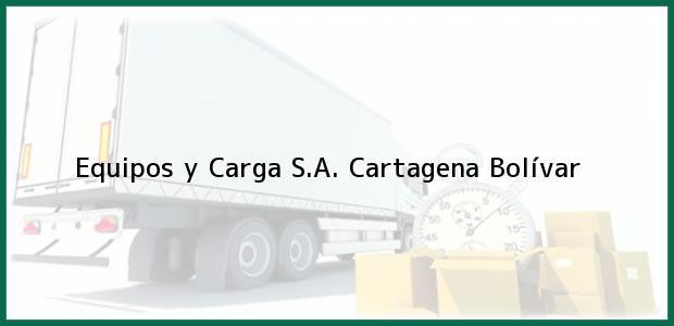 Teléfono, Dirección y otros datos de contacto para Equipos y Carga S.A., Cartagena, Bolívar, Colombia