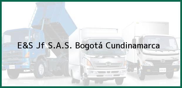 Teléfono, Dirección y otros datos de contacto para E&S Jf S.A.S., Bogotá, Cundinamarca, Colombia