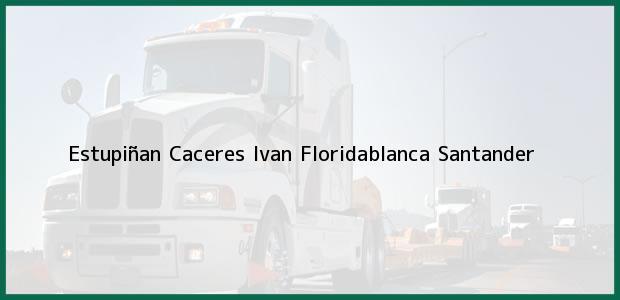 Teléfono, Dirección y otros datos de contacto para Estupiñan Caceres Ivan, Floridablanca, Santander, Colombia