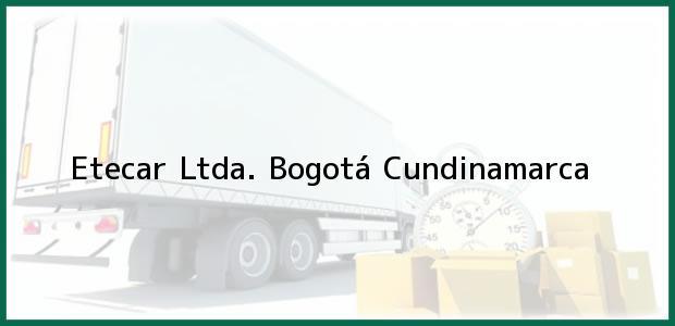 Teléfono, Dirección y otros datos de contacto para Etecar Ltda., Bogotá, Cundinamarca, Colombia