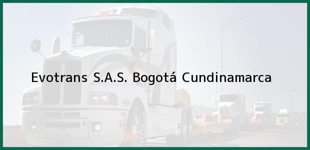 Teléfono, Dirección y otros datos de contacto para Evotrans S.A.S., Bogotá, Cundinamarca, Colombia