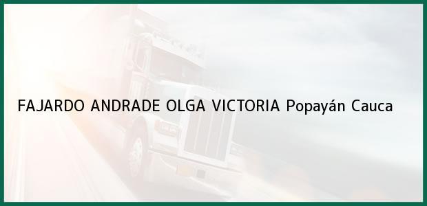 Teléfono, Dirección y otros datos de contacto para FAJARDO ANDRADE OLGA VICTORIA, Popayán, Cauca, Colombia
