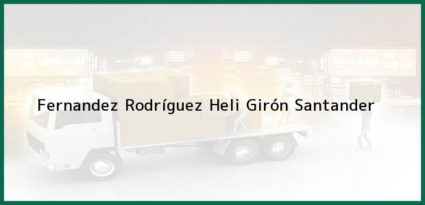 Teléfono, Dirección y otros datos de contacto para Fernandez Rodríguez Heli, Girón, Santander, Colombia