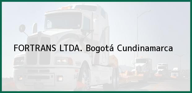 Teléfono, Dirección y otros datos de contacto para FORTRANS LTDA., Bogotá, Cundinamarca, Colombia