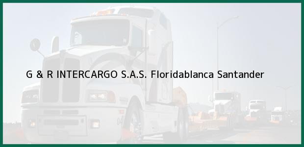 Teléfono, Dirección y otros datos de contacto para G & R INTERCARGO S.A.S., Floridablanca, Santander, Colombia