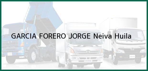 Teléfono, Dirección y otros datos de contacto para GARCIA FORERO JORGE, Neiva, Huila, Colombia