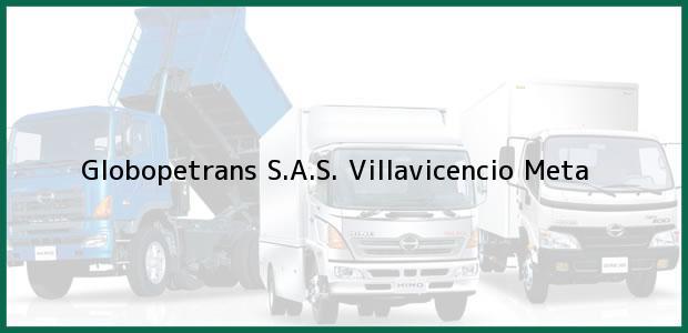 Teléfono, Dirección y otros datos de contacto para Globopetrans S.A.S., Villavicencio, Meta, Colombia
