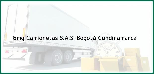 Teléfono, Dirección y otros datos de contacto para Gmg Camionetas S.A.S., Bogotá, Cundinamarca, Colombia