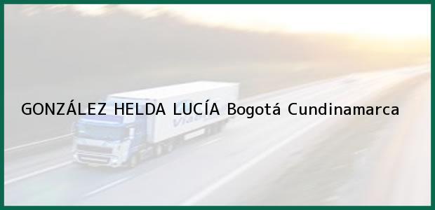 Teléfono, Dirección y otros datos de contacto para GONZÁLEZ HELDA LUCÍA, Bogotá, Cundinamarca, Colombia
