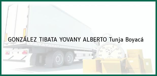 Teléfono, Dirección y otros datos de contacto para GONZÁLEZ TIBATA YOVANY ALBERTO, Tunja, Boyacá, Colombia
