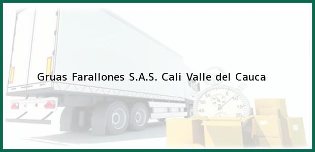 Teléfono, Dirección y otros datos de contacto para Gruas Farallones S.A.S., Cali, Valle del Cauca, Colombia