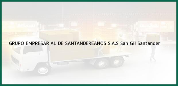 Teléfono, Dirección y otros datos de contacto para GRUPO EMPRESARIAL DE SANTANDEREANOS S.A.S, San Gil, Santander, Colombia