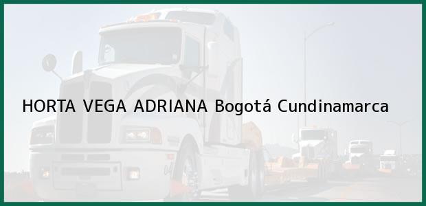 Teléfono, Dirección y otros datos de contacto para HORTA VEGA ADRIANA, Bogotá, Cundinamarca, Colombia