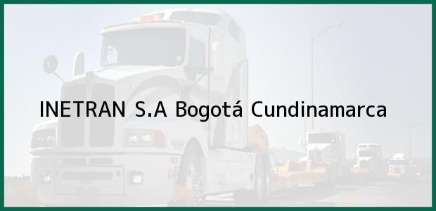 Teléfono, Dirección y otros datos de contacto para INETRAN S.A, Bogotá, Cundinamarca, Colombia
