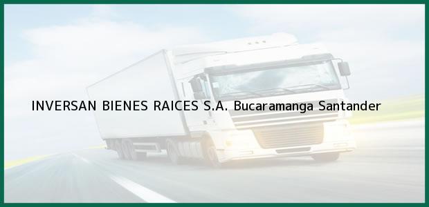 Teléfono, Dirección y otros datos de contacto para INVERSAN BIENES RAICES S.A., Bucaramanga, Santander, Colombia