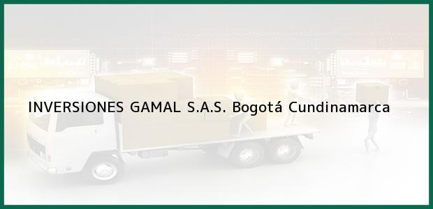 Teléfono, Dirección y otros datos de contacto para INVERSIONES GAMAL S.A.S., Bogotá, Cundinamarca, Colombia