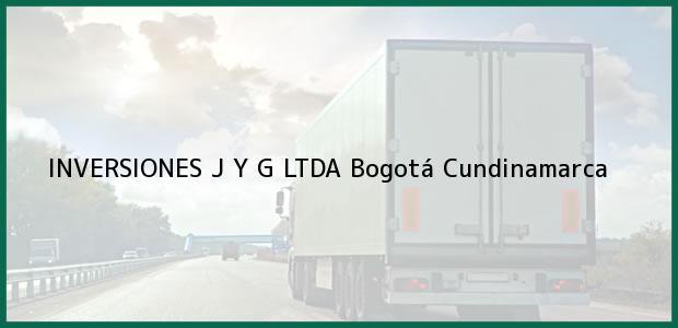 Teléfono, Dirección y otros datos de contacto para INVERSIONES J Y G LTDA, Bogotá, Cundinamarca, Colombia