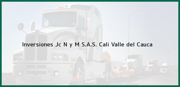 Teléfono, Dirección y otros datos de contacto para Inversiones Jc N y M S.A.S., Cali, Valle del Cauca, Colombia