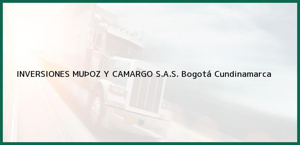 Teléfono, Dirección y otros datos de contacto para INVERSIONES MUÞOZ Y CAMARGO S.A.S., Bogotá, Cundinamarca, Colombia