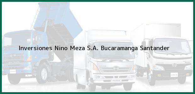 Teléfono, Dirección y otros datos de contacto para Inversiones Nino Meza S.A., Bucaramanga, Santander, Colombia