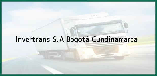 Teléfono, Dirección y otros datos de contacto para Invertrans S.A, Bogotá, Cundinamarca, Colombia