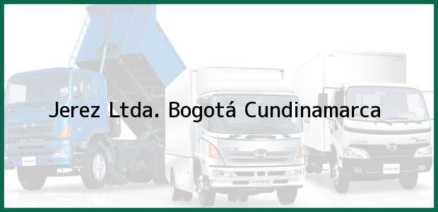 Teléfono, Dirección y otros datos de contacto para Jerez Ltda., Bogotá, Cundinamarca, Colombia